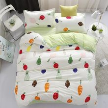 High Quality Soft Cotton 3/4 pcs Bedding Set Adult Kids Child Bed Linen Single Full Queen King Size Quilt Duvet Cover Bedspreads(China)