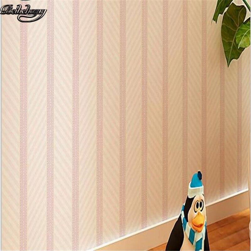 Beibehang moderne simple rayures couleur unie papier peint chaud mousse chambre salon couloir non-tissé papier peint
