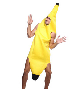 One Size Banana Outfit Fancy Dress Costume Jamaican Fruit Hawaii