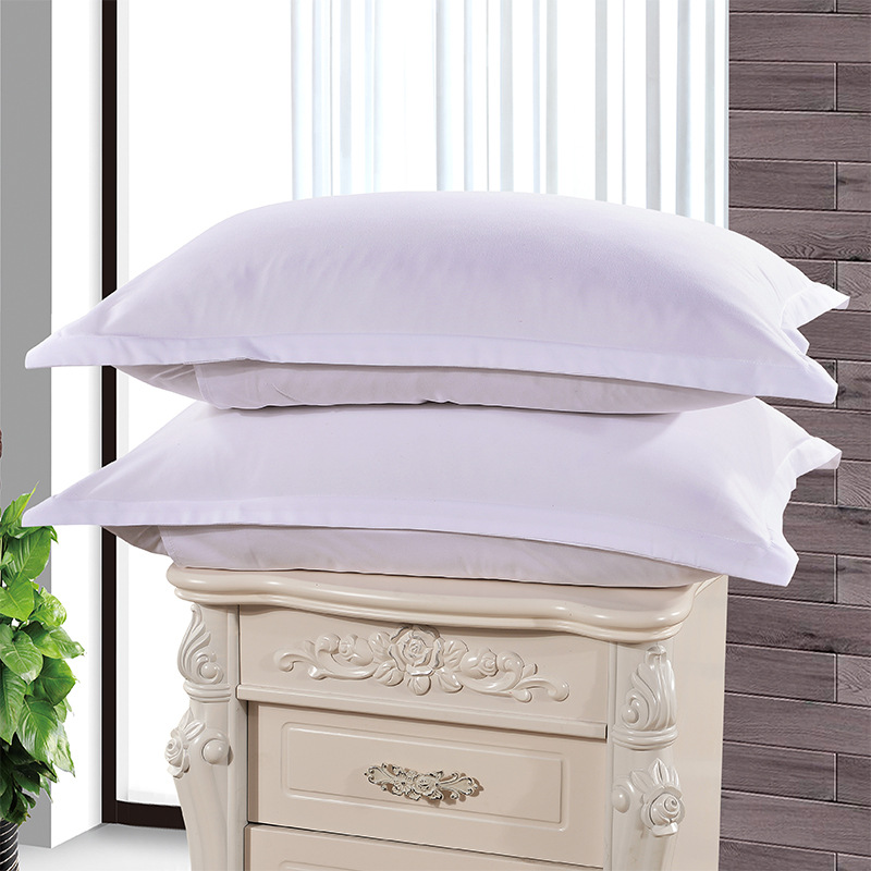 1pc Solid Color Pillow Case Cover 100% Polyester Brief Pillowcase Knitted Textile Home Hotel Use 48cm*74cm XF336