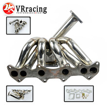 VR RACING Top Mount Turbo Manifold for Toyota 1JZ GTE VVTI JZX100 FOR Supra GS300 1JZX100