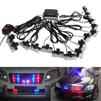 32LED Super Bright Car Truck Emergency Light Flashing Firemen Lights Ambulance Police Strobe Warning Light Signal Lamp DRL