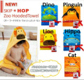 Hooded Bath Towel  Baby Product Cartoon Baby Robe 100% Cotton Infant Bath Towels 5 Style