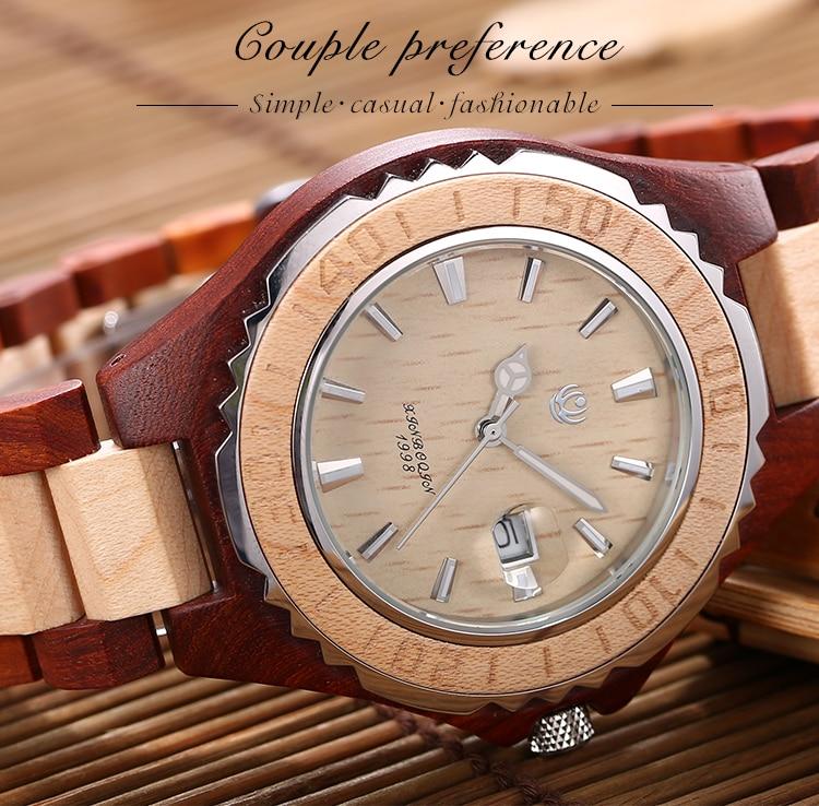 relógio de pulso casal calendário masculino relógios