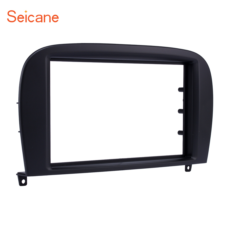 Seicane Double Din Car Radio Fascia for BENZ SL CLASS (R230) G WAGON G500 G55 Audio Stereo Frame Panel Dash Cover Kit