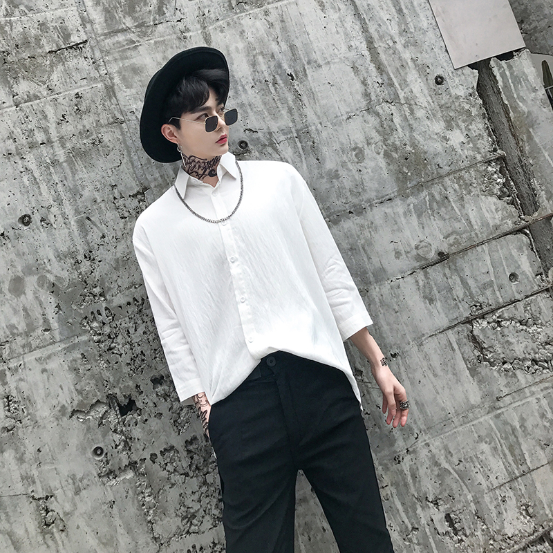 2018 Cotton Linen Shirt Loose Fit Camisas De Hombre Designer Club Shirt Ropa Para Hombre Stylish Shirts For Men