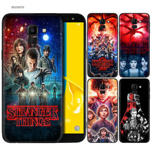 Silicone Case For Samsung Galaxy J4 J6 A6 A8 Plus A7 A9 J8 2018 A5 2017 Soft Cover Shell Stranger Things poster(China)