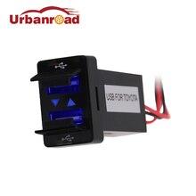Auto 12V Dual USB Car Cigarette Lighter Socket Charger Power Adapter Outlet 2 USB Port Car Charger Socket For TOYOTA