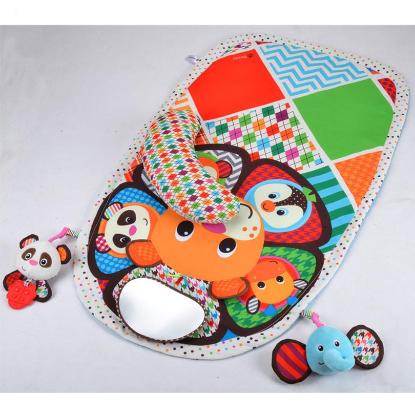 Baby Activity Mat Crawling Mat Play Mat Pad Teether Animals Panda Elephant Waterproof Early Education Baby Toys gift 6