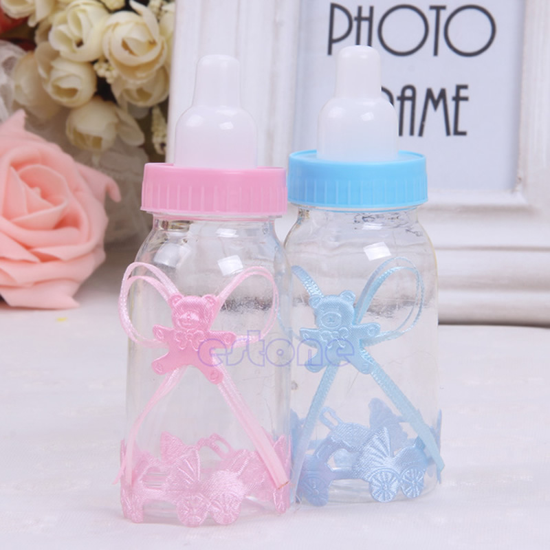2pcs/lot Baby Candy Box Bottle Shower Baptism Party Birthday Favor Christening Gift New
