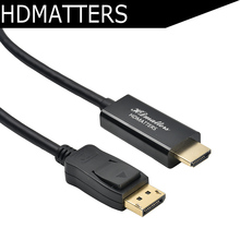 Free shipping&wholesale 10pcs/lot Quality Displayport to hdmi cable displayport input and output triple-shielded