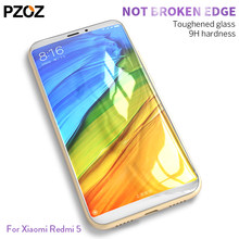 Pzoz redmi 5 glass tempered cover prime screen protector for xiaomi xaomi redmi5 Clear film xiomi redmi 5 plus glass global 2017(China)
