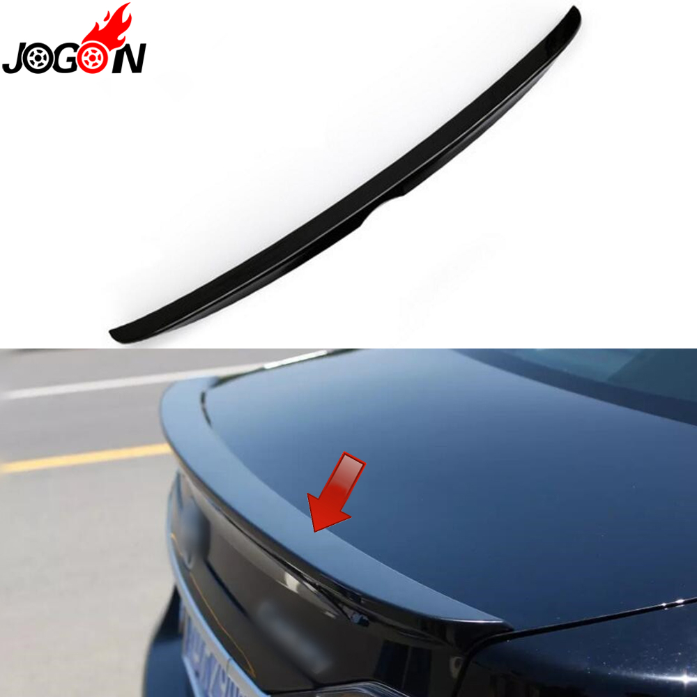 Black For Toyota Camry XV50 2012 - 2016 Car Styling Trunk Lip Rear Aero Add-on Spoiler Wing Cover Trim Accessories new 2018 fashion men dress shoes black cow leather pointed toe male oxfords business shoes lace up men formal shoes yj b0034 page 9