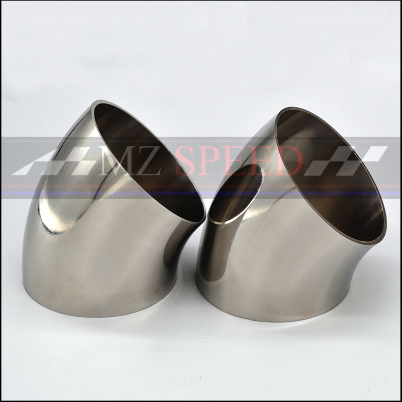 51mm 57mm 63mm 76mm OD Sanitary Butt Weld 45 Degree Elbow Bend Pipe 304 Stainless Steel Car Exhaust Pipe Muffler Welded Pipe