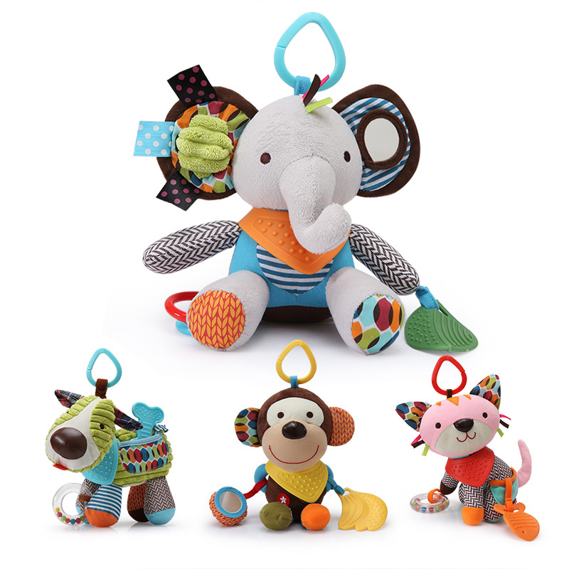 14 Styles 2017 Baby 0-12 Month Toys Cute Animal Baby Rattles & Mobiles Infant Plush Learning Products Kids Gift