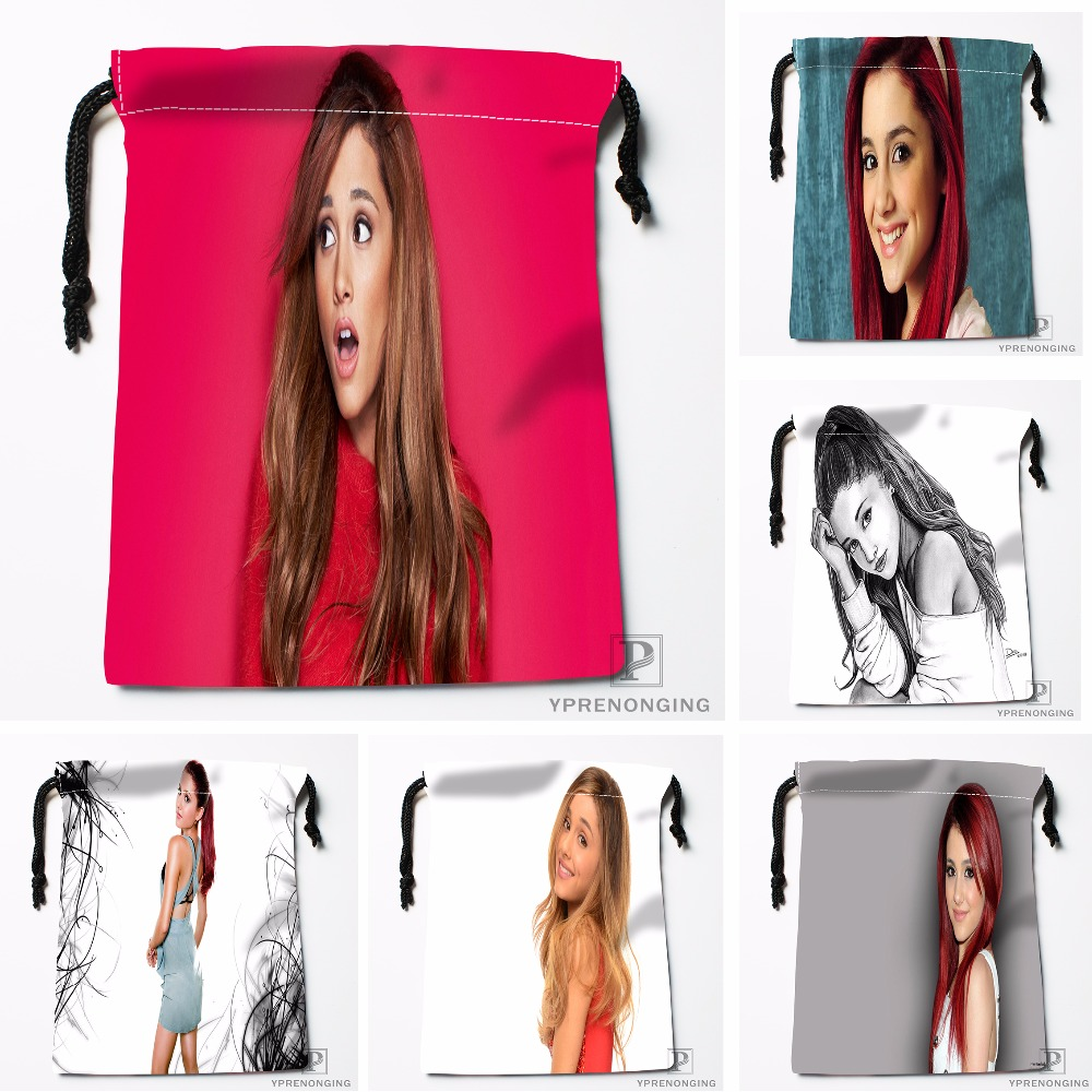 Custom Ariana Grande Drawstring Bags Printing Travel Storage Mini Pouch Swim Hiking Toy Bag Size 18x22cm