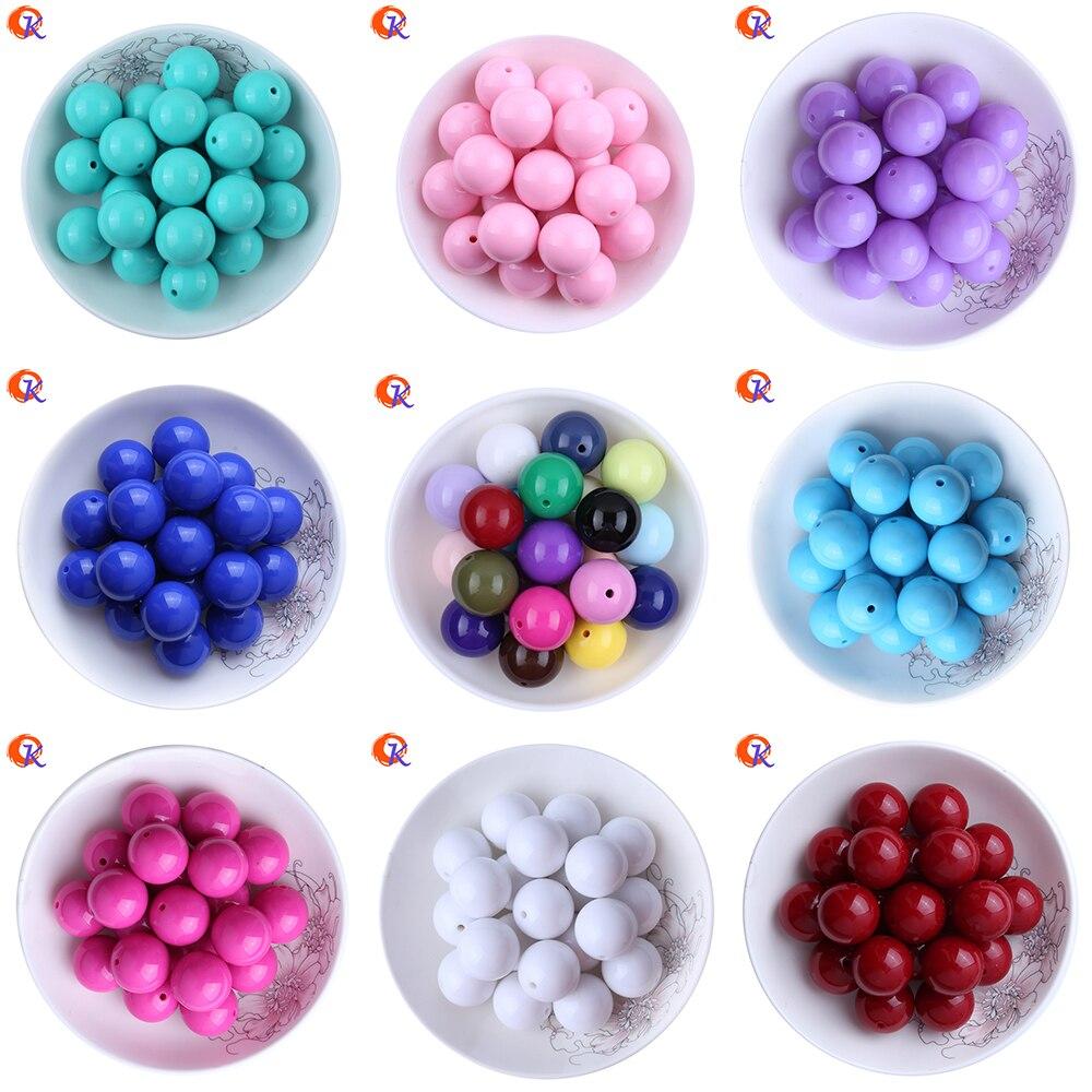 Mode Perle Schmuck 6-20 MM 100 Teile/los Acryl Perlen Chunky Bubblegum Solide Perlen Für Halsketten Schmuck Machen