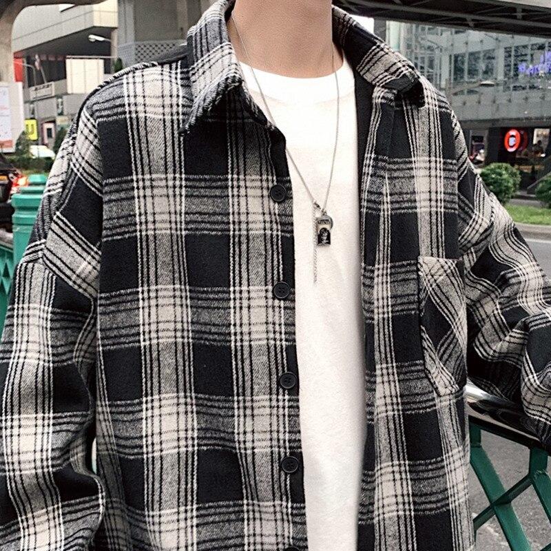 Fashion Men Plaid Streetwear Casual Windbreaker Hooded coat Jackets
