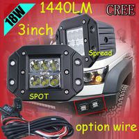 Only 25USD PCS 3 18W 1440LM 10 30V 6500K LED Working Light Free Ship Optional Wire