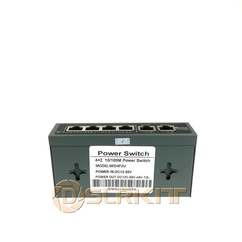 DSLRKIT 6 Ports 4 PoE Kit (Switch + PoE Splitter) 18V-55V to 12V DC Buck converter 3