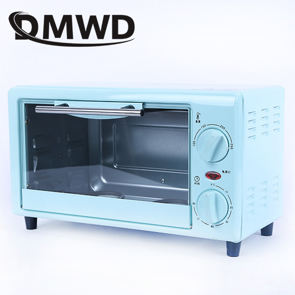 DMWD Mini Electric Oven Toaster Bread Pizza Cake Baking Grill Automatic Chicken Roaster Machine With Timer 10L Convection Cooker dmwd mini toaster electric oven multifunction timer making biscuits bread cake pizza cookies baking machine 12l liter 900w eu us page 3