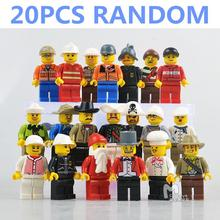 20pcs RANDOM The Movie Characters Emmet Wyldstyle Police Navy Action Figures Minifigures Model Building Blocks Kids Toys Gifts