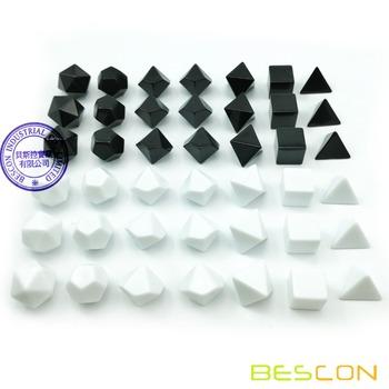 Bescon Blank wielościenny zestaw kości RPG 42 szt Zestaw artysty solidne czarno-białe kolory w kompletnym zestawie 7 3 zestawy dla każdego koloru tanie i dobre opinie BCD510A42