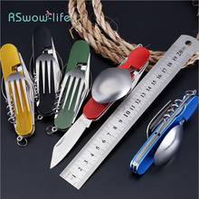 Foldable Detachable Combination Outdoor Travel Tableware Multifunctional Folding Gift Knife For Carry It Outdoors Use