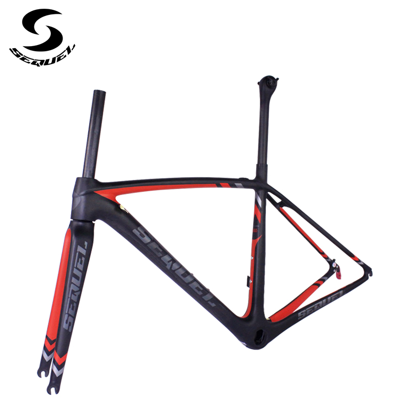 SEQUEL carbon Super light carbon bike frame 765g full carbon fiber SEQUEL Brand factory directly sell carbon road frame цена