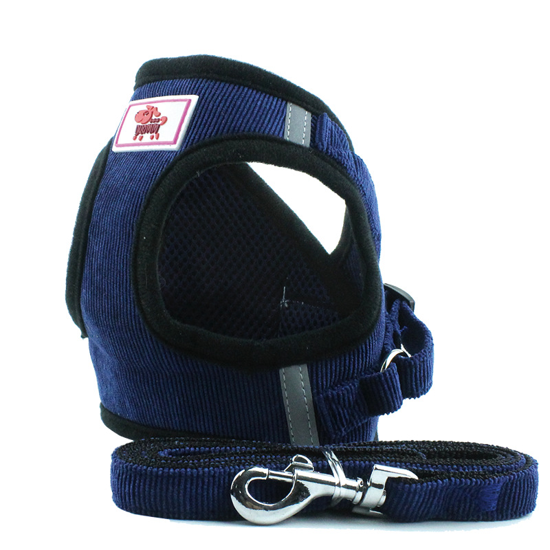 Pet Cat Dog Harness and Leash Set Vest Reflective New Soft Breathable Air Nylon Mesh Puppy