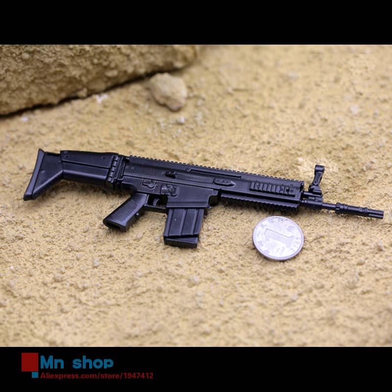 1:6 scale metal toy gun black scar assault rifle model gun toys...