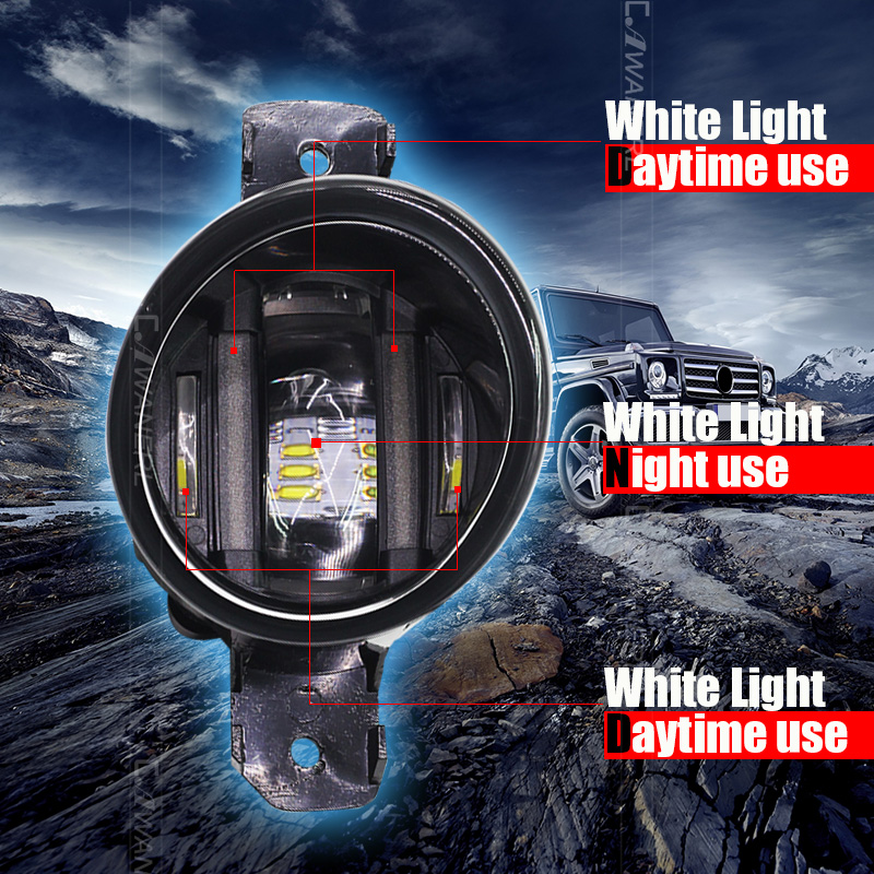 Luz de Nevoeiro Branco DRL Luz de