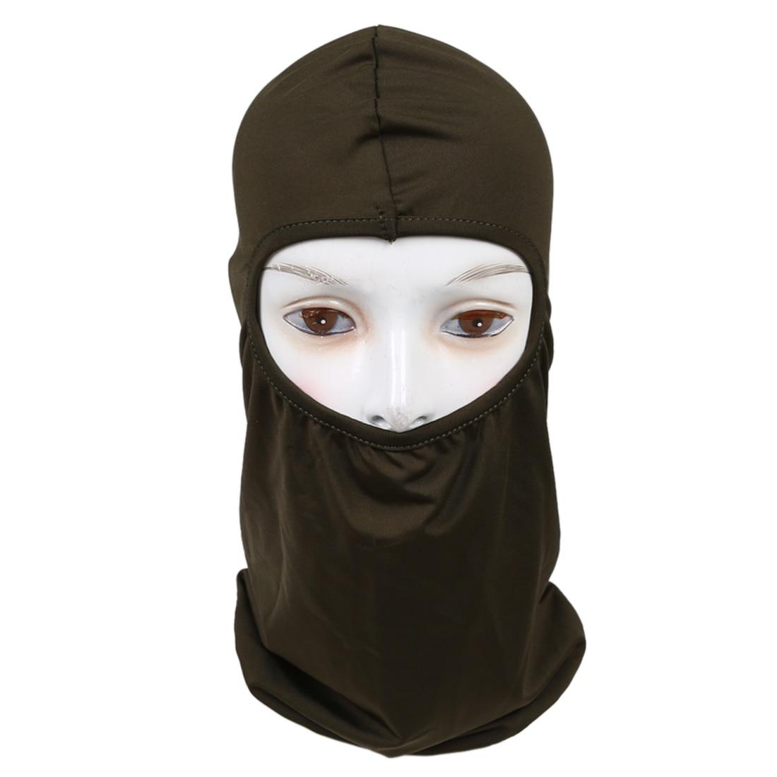 2x Ultra Thin Ski Bike Bicycle Face Mask Sports Football Helmet Army Green