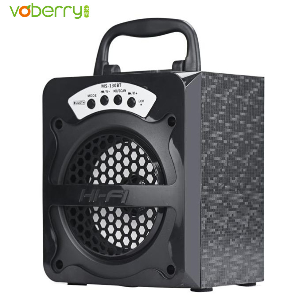 VOBERRY MS - 130BT Outdoor Bluetooth Wireless Portable Speaker High power output Super Bass Speakers with USB/TF/AUX/FM Radio
