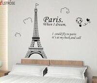 Romantic Paris Eiffel Tower Wall Art Sticker Beautiful View Of France DIY Wall Wallpaper Stickers Art