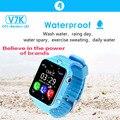 Gps smart watch crianças assista à prova d' água v7k com câmera/facebook chamada sos localização devicertracker anti-perdido do monitor pk q90/q80/q60