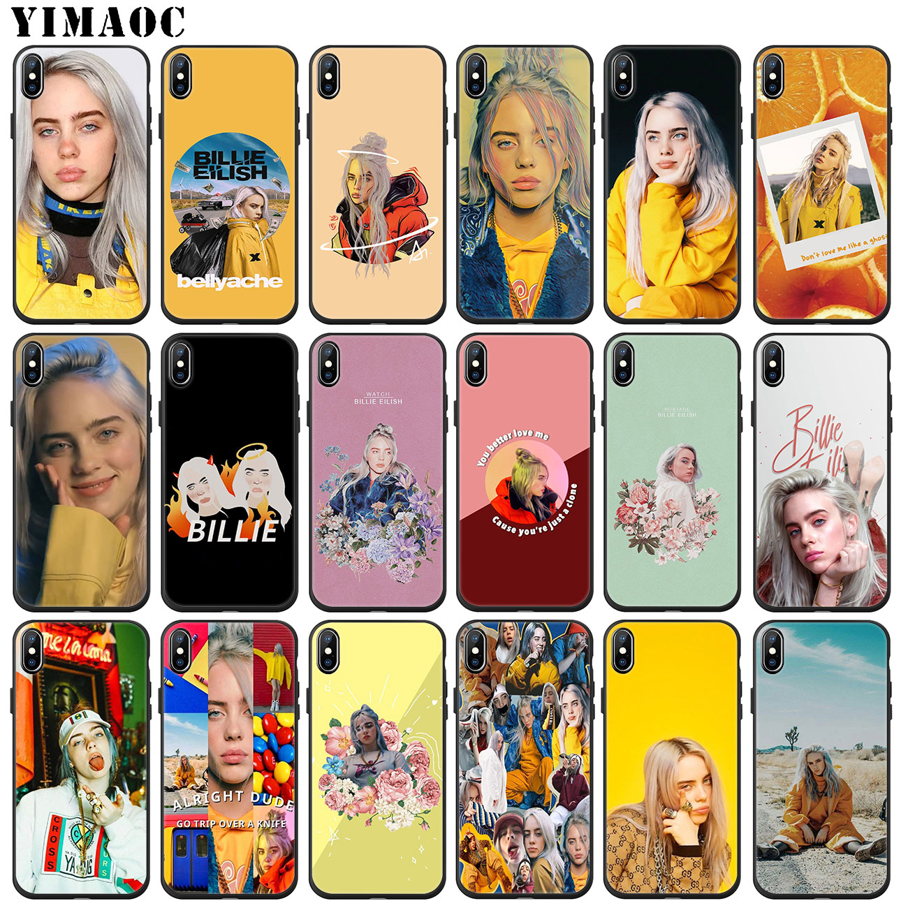 YIMAOC Billie Eilish Hot Music Soft Silicone Phone Case