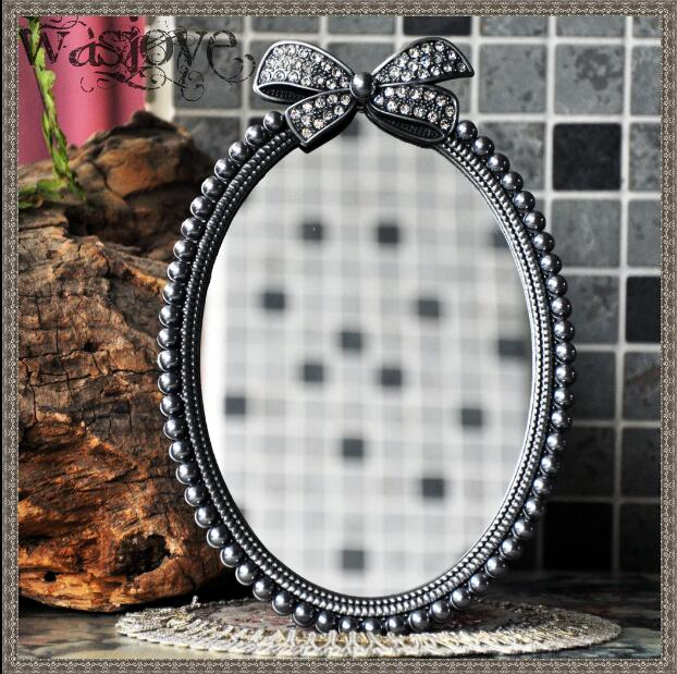 Exceptionnel European Retro Bow Knot Small Tabletop Mirror Small Vanity Mirror For Girl  Gift Decorative Table Mirrors For Home Decor J026 In Decorative Mirrors  From Home ...