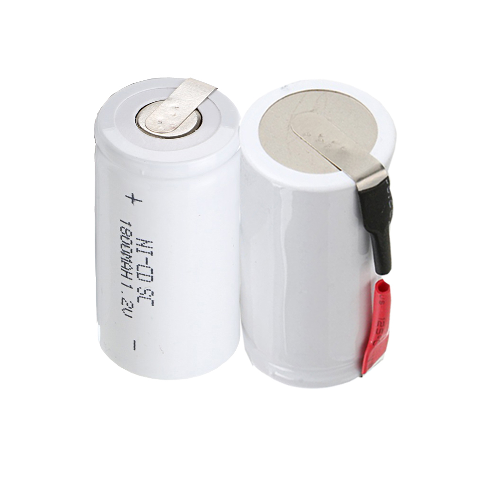 2 pcs SC 1800mah 1.2v battery NICD rechargeable batteries for emergency light toy equipment power for electric screwdriver
