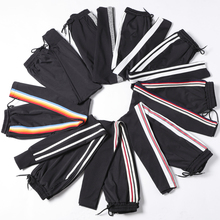 2018 Summer Women Ankle Length Leisure Pants Bottoms  Female Side Striped Pants Sweatpants Sportswear 4XL 5XL Plus Size Trousers