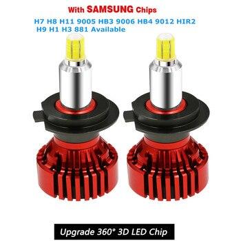 2 uds actualizado H7 de CSP faro Led lámparas 6000K blanco 12V H8 H9 H11 9005 HB3 9006 HB4 9012 hir2 bombilla Led de coche ampollas Voiture