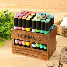 Free shipping 48/60/80/132 Colors self-selection set Marker Pen commonly used Sketch marker copic markers