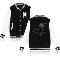 BTS Kpop Print Fashion Baseball Hoodies Women Korea Autumn Winter Warm Baseball Sweatshirts Women Cotton Casual