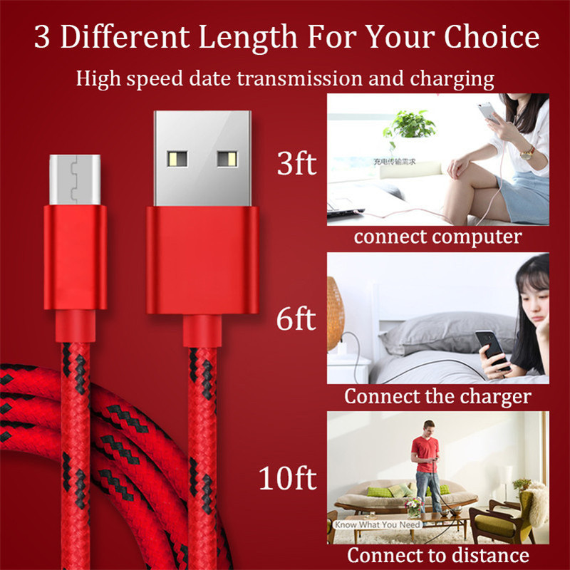 Image 5 - Fast Charging For Xiaomi Redmi Note 7 Wire USB Cable Charge For Samsung Galaxy S10 A50 For Xiaomi Mi 9 Huawei For iPhone Type C-in Mobile Phone Cables from Cellphones & Telecommunications
