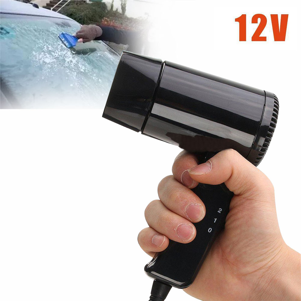 Car-styling Portable 12V Hot & Cold Travel Car Folding Camping Hair Dryer Window Defroster CSL2017