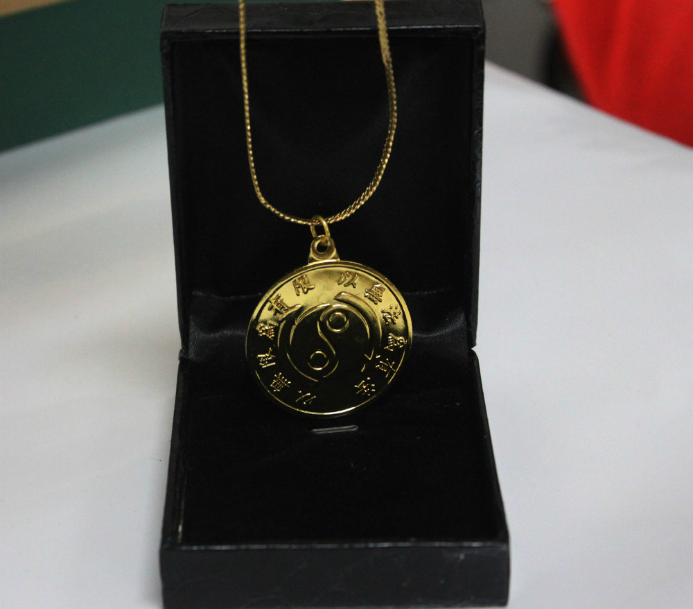 pamela rebecca sale medallion card plated necklaces necklace garmentory bree nicaea gold shop delicate