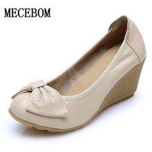 2017 женские весенние на танкетке белые туфли Элегантная Свадебная обувь для подружки невесты женские туфли с острым носком Рабочая обувь с закругленным носом A08W