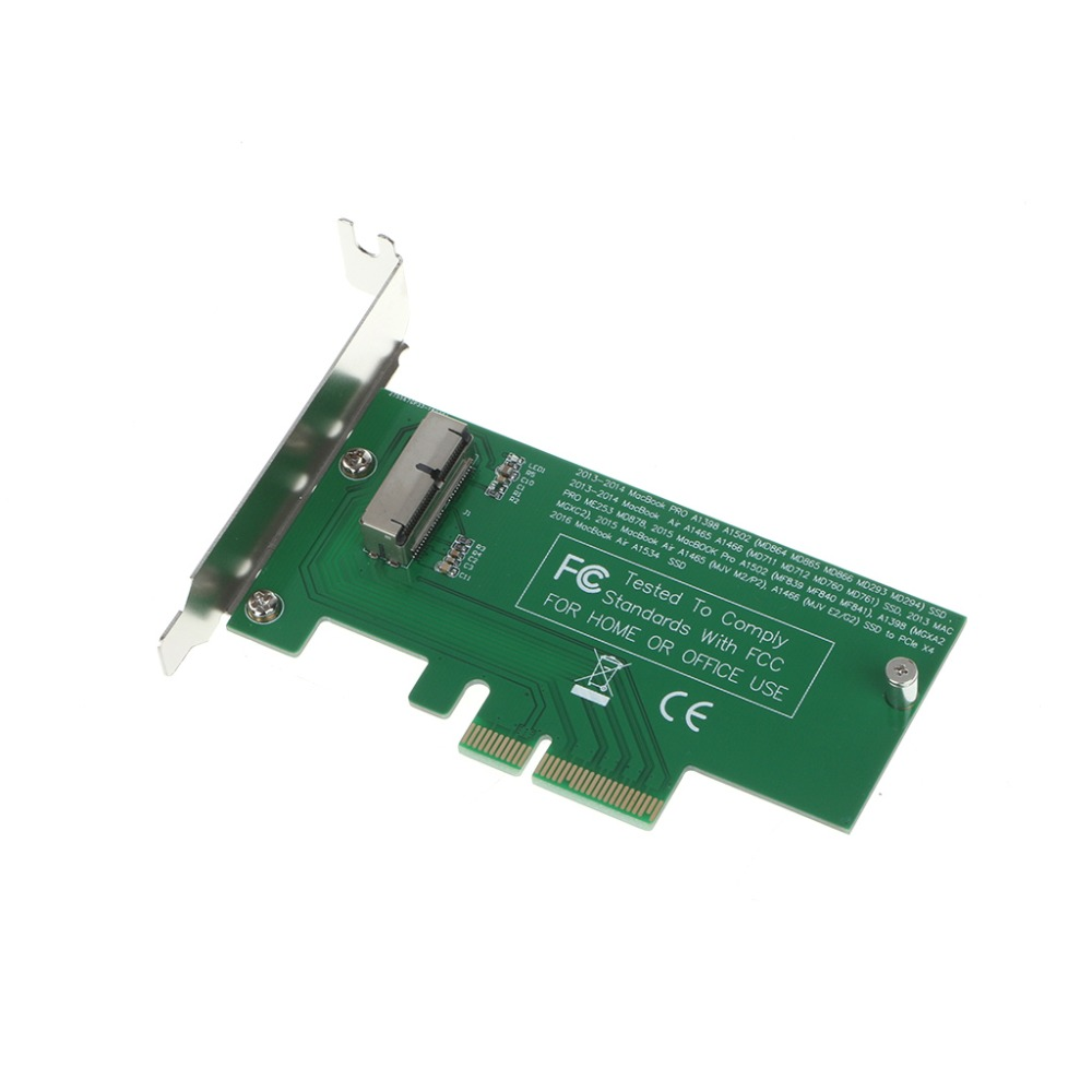 Adapter Card To PCIe X4 For 2015 Apple MacBook Air A1465 Mac Pro MD878 ME253 SSD C26