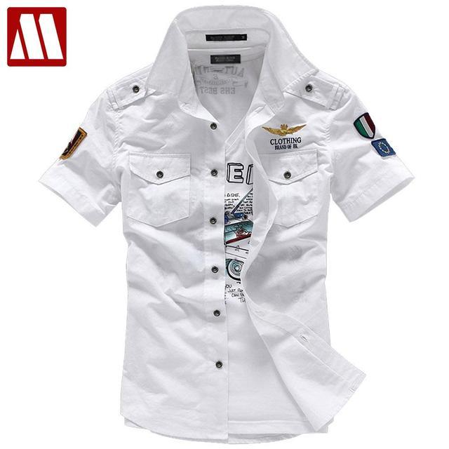 6626bc59b77 Бесплатная доставка Оптовая продажа мужской рубашки с коротким рукавом  мужские Slim корейской имеет воротник Мужская Повседневная