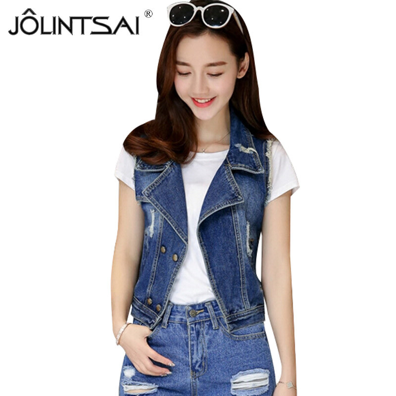 Popular Sleeveless Denim Jacket-Buy Cheap Sleeveless Denim Jacket ...